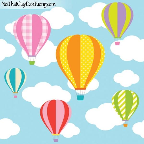 Tranh dán tường dành cho bé yêu, những chiếc khinh khí cầu giữa bầu trời DA4101