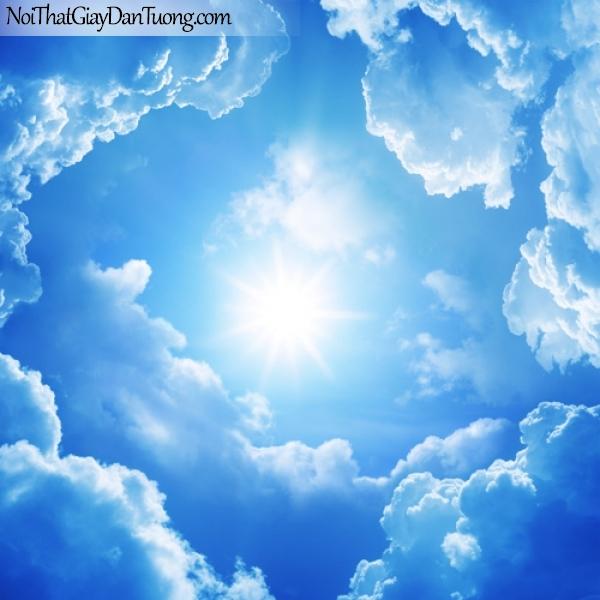 Tranh dán tường, bầu trời xanh với ánh mặt trời DA0294