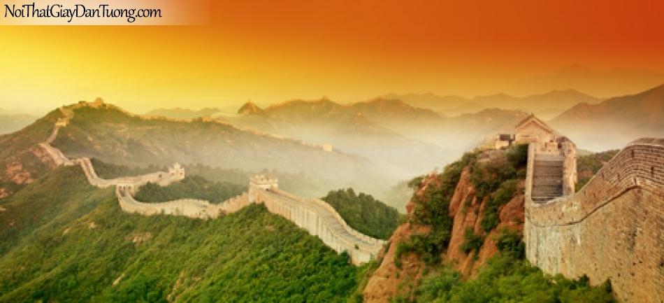 Tranh dán tường, vạn lý trường thành nằm giữa khung trời thơ mộng DA0401