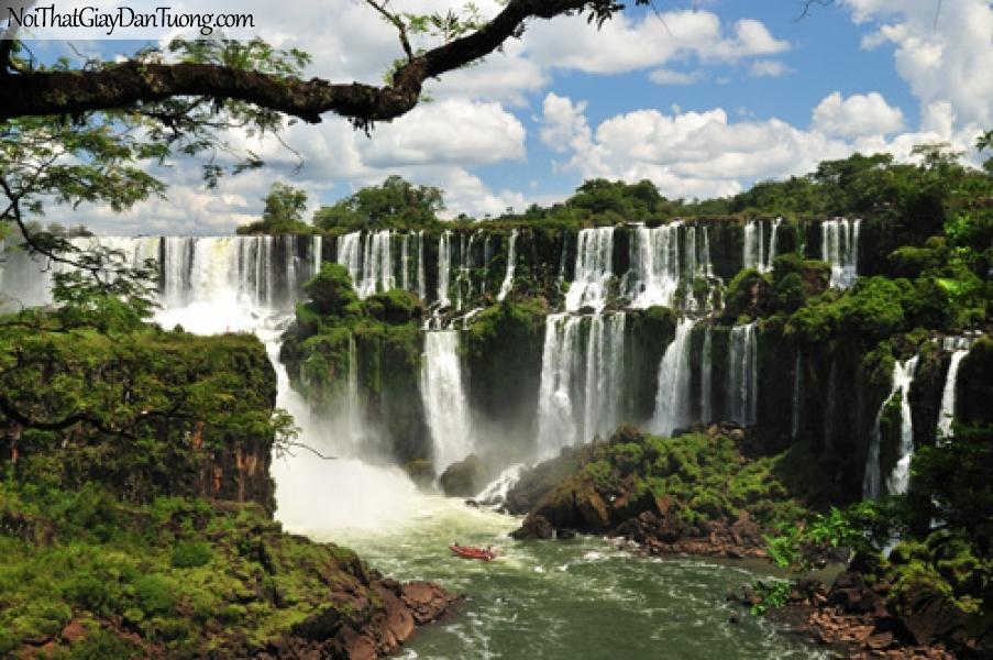 Tranh dán tường, vẻ đẹp mê hồn của thác nước DA3038