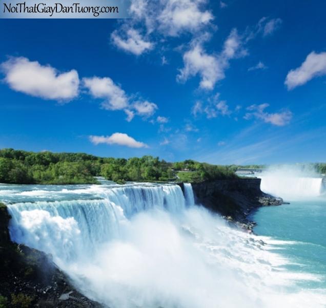 Tranh dán tường, vẻ đẹp mê hồn của thác nước DA3040