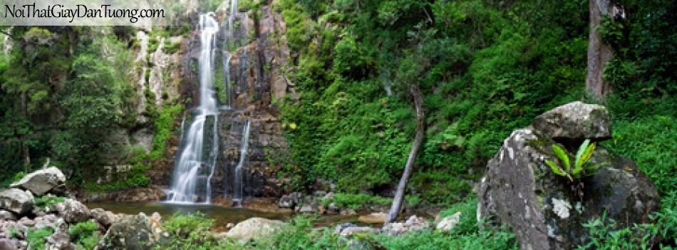 Tranh dán tường, thác nước hùng vĩ chảy từ trên núi xuống DA3062
