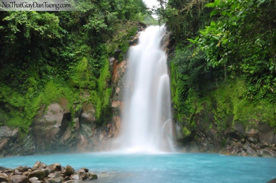 Tranh dán tường, vẻ đẹp nên thơ của thác nước chảy từ trên cao DA3069