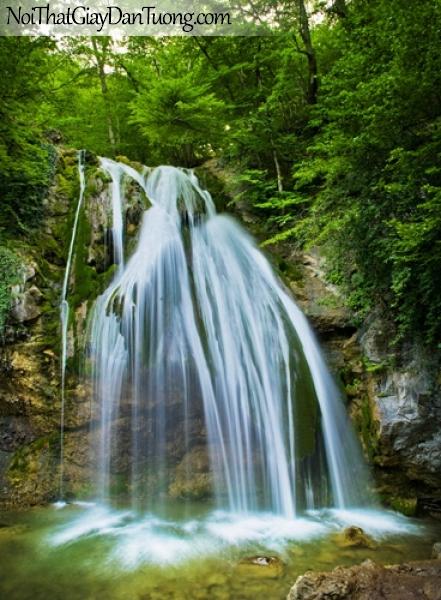 Tranh dán tường, những dải nước tuyệt vời của thác nước chảy từ trên cao DA3085