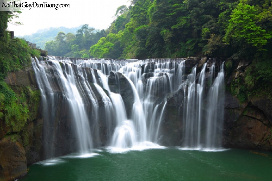 Tranh dán tường, sự ngỡ ngàng trước vẻ đẹp hùng vĩ của thác nước DA3096