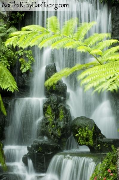 Tranh dán tường, vẻ đẹp thiên nhiên của thác nước DA3103