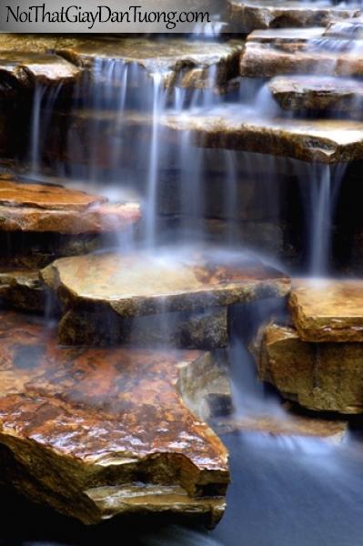 Tranh dán tường, vẻ đẹp huyền mĩ của thác nước chảy qua từng cung bậc cảm xúc DA3110