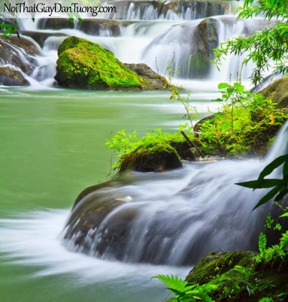 Tranh dán tường, vẻ đẹp mê hồn của thác nước chảy trên những vách đá DA3130