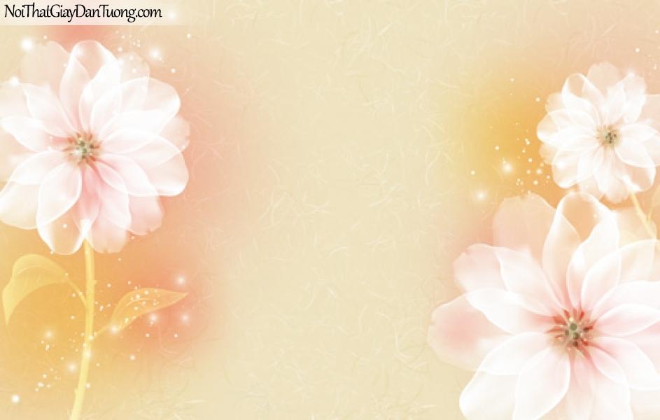 Tranh dán tường , hoa màu trắng DA2035