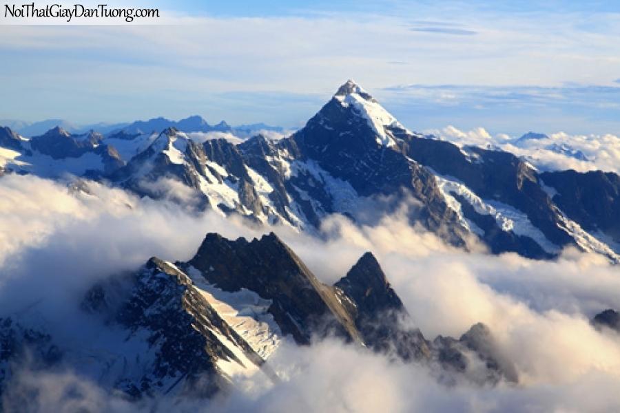 Tranh dán tường, Mây bay lững lờ trên những đỉnh núi cao DA5024
