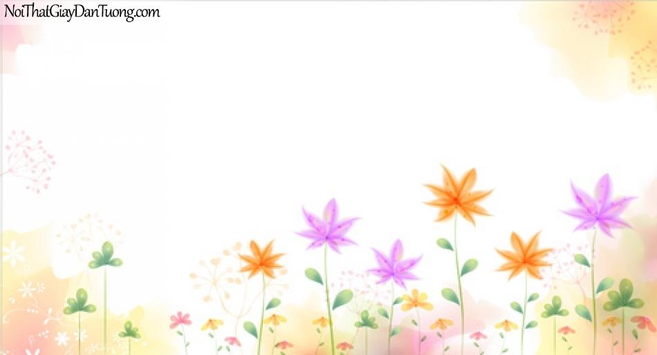Tranh dán tường, những bồng hoa màu sắc DA2042