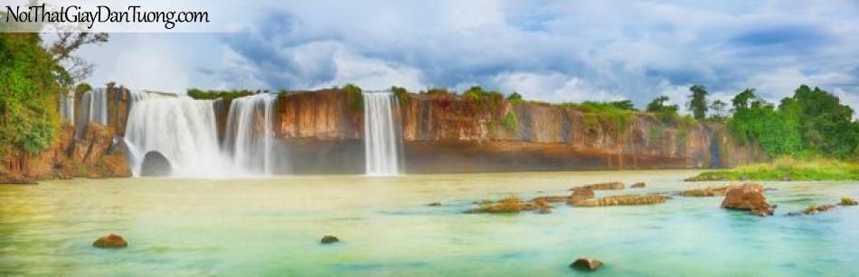Tranh dán tường , ngắm cảnh thác nước phong phú DA0567