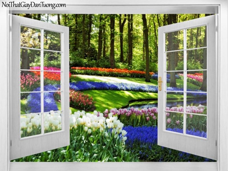 Tranh dán tường, muôn hoa khoe sắc bên ngôi nhà của bạn 3D0020