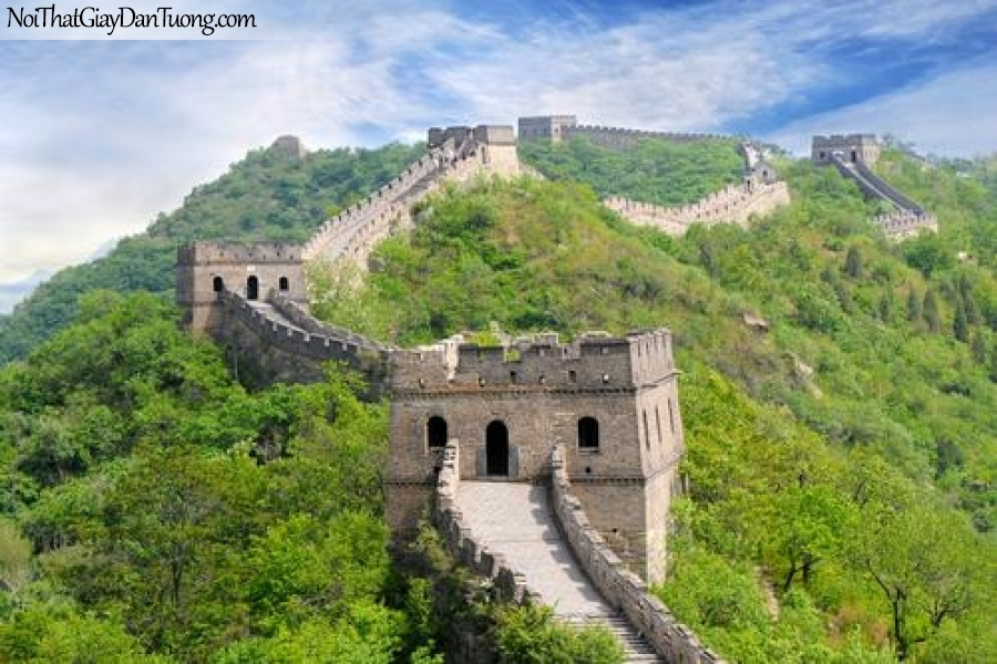 Tranh dán tường , ngằm cảnh vạn lý trường thành DA0575