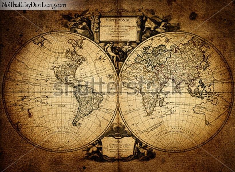 Tranh dántường | Bản đồ thế giới DA700