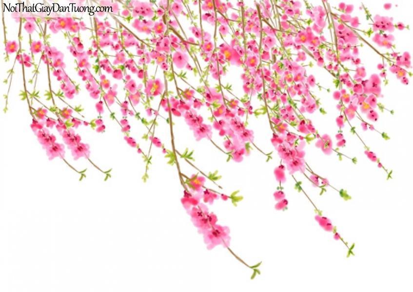 Tranh dán tường | Bức tranh những chành hoa cùng với những chồi non đang khoe sắc DA2116