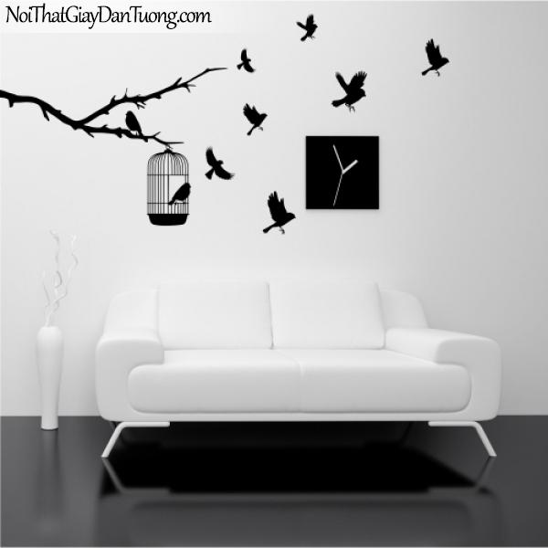 Tranh dán tường , đàn chim bay DA305
