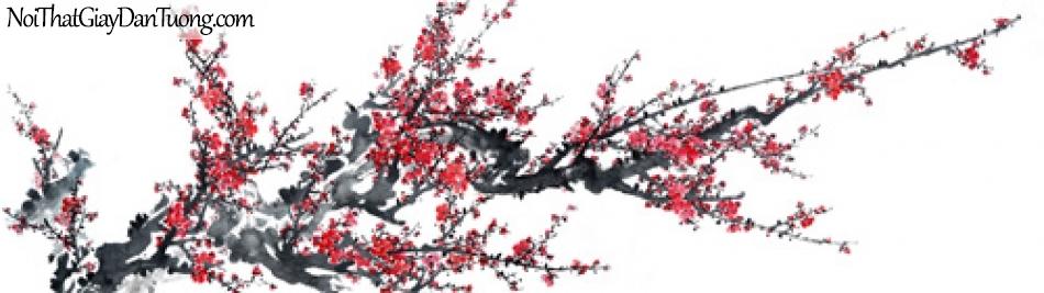 Tranh dán tường | Bức tranh chành hoa đào đang khoe sắc DA2132
