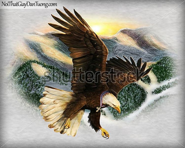 Tranh dán tường , nhìn chim đại bàng bay DA339