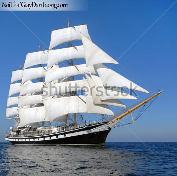 Tranh dán tường , thuyền buồm đẹp A015