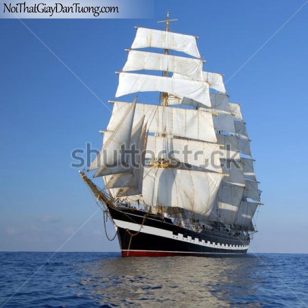 Tranh dán tường , thuyền buồm đẹp A018