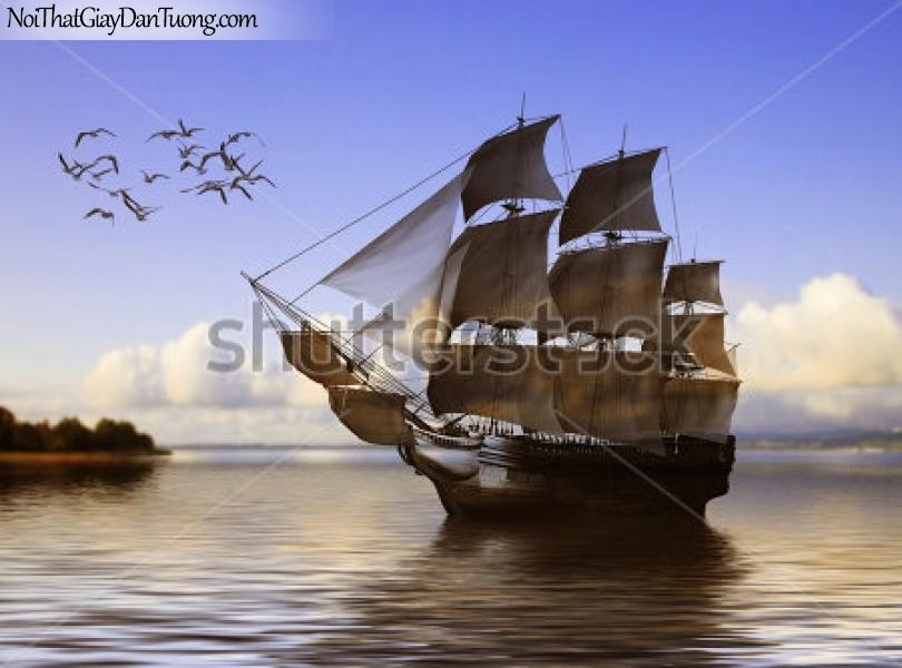 Tranh dán tường , thuyền buồm đẹp A021