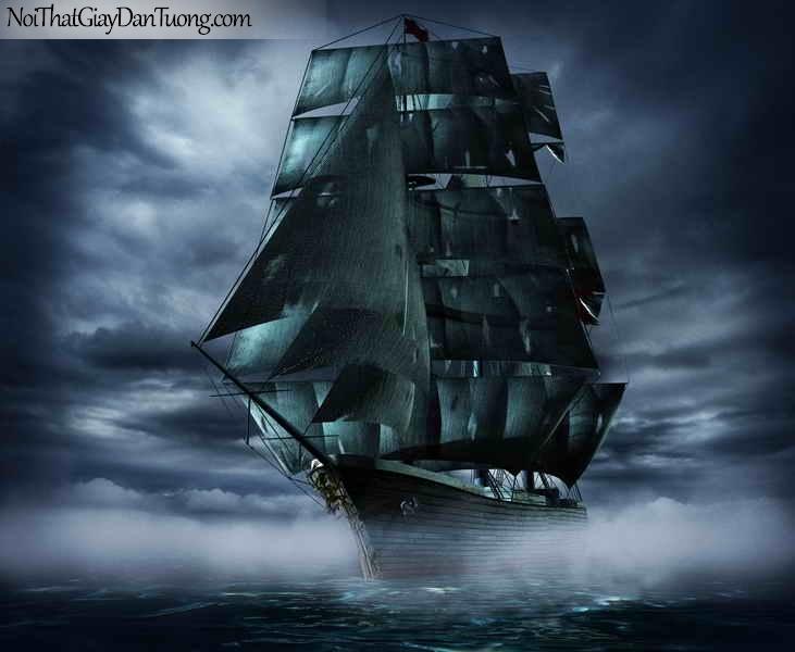 Tranh dán tường ,thuyền buồm đẹp A035