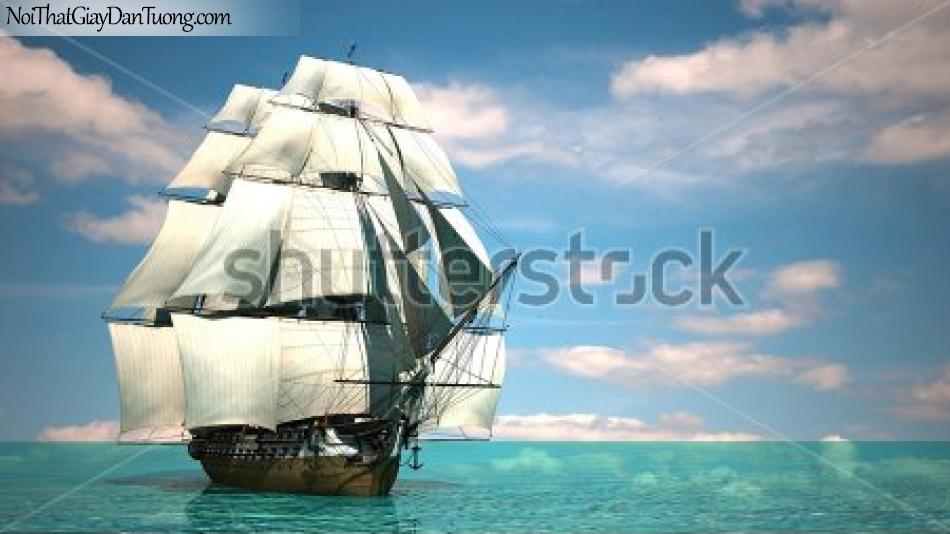 Tranh dán tường ,thuyền buồm đẹp A038