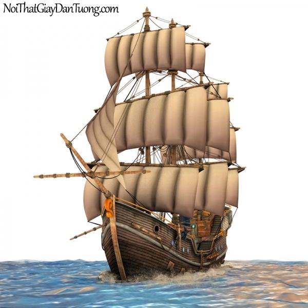 Tranh dán tường , thuyền buồm đẹp A041