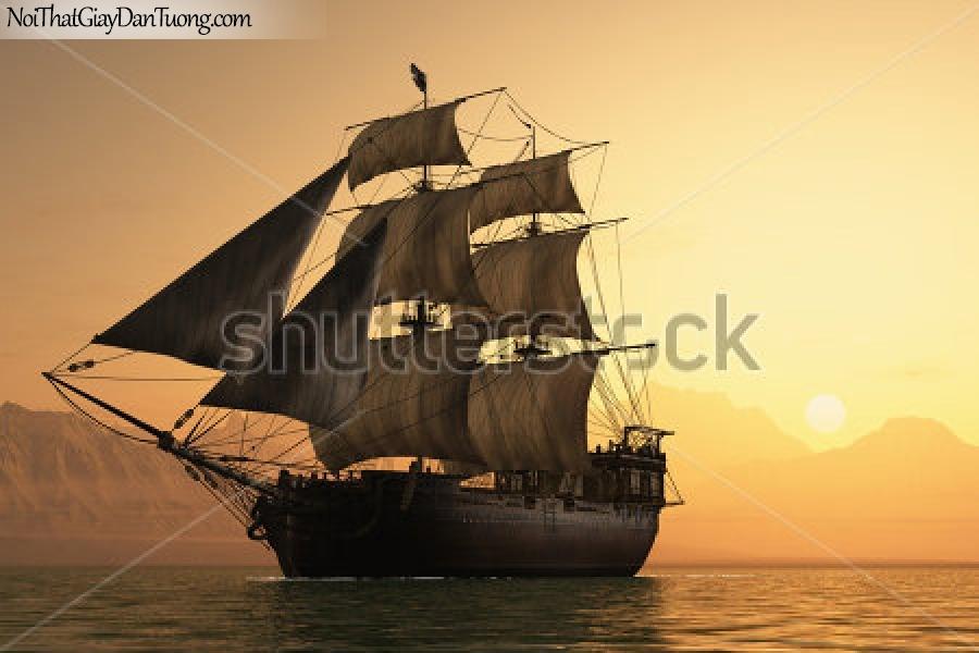 Tranh dán tường , thuyền buồm đẹp A042