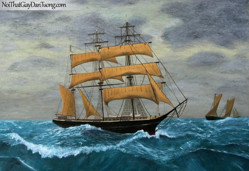 Tranh dán tường , thuyền buồm đẹp A045