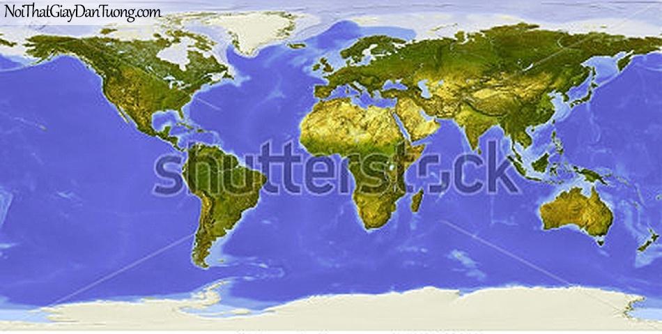 Tranh dán tường | Bản đồ thế giới DA703