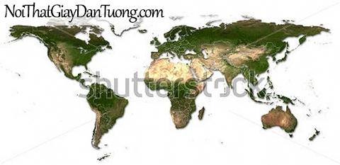 Tranh dán tường | Bản đồ thế giới DA710