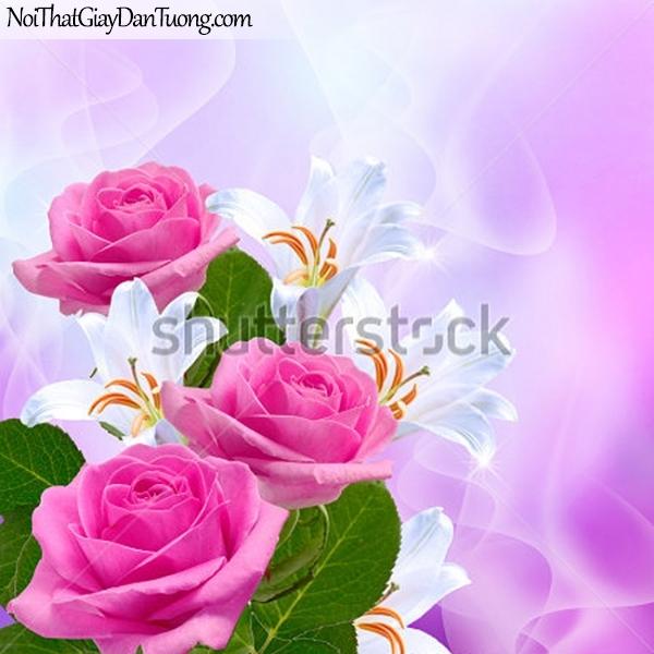 Tranh dán tường | Bức tranh những bông hoa hồng đang khoe sắc DA2284