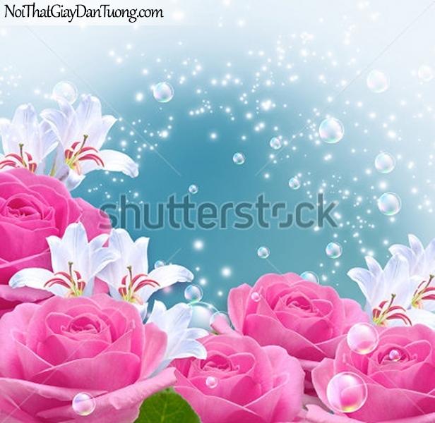 Tranh dán tường | Bức tranh những bông hoa hồng tuyệt đẹp DA2287