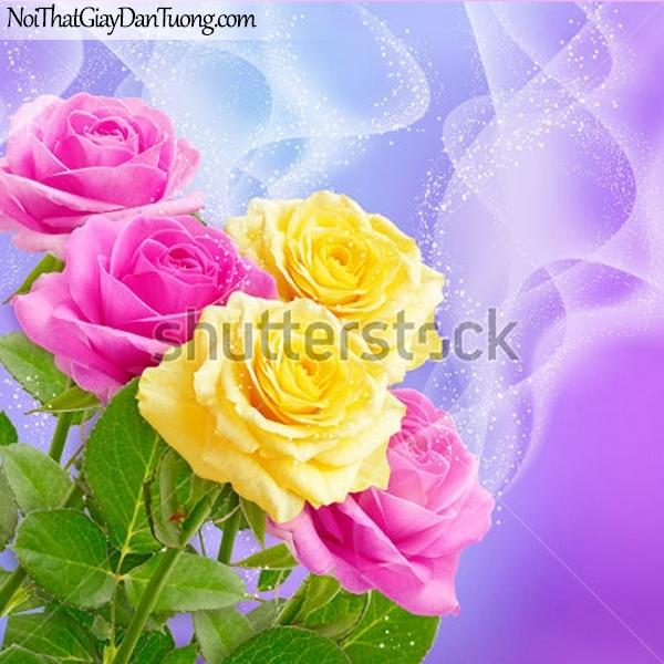 Tranh dán tường | Bức tranh những bông hoa hồng tuyệt đẹp DA2298