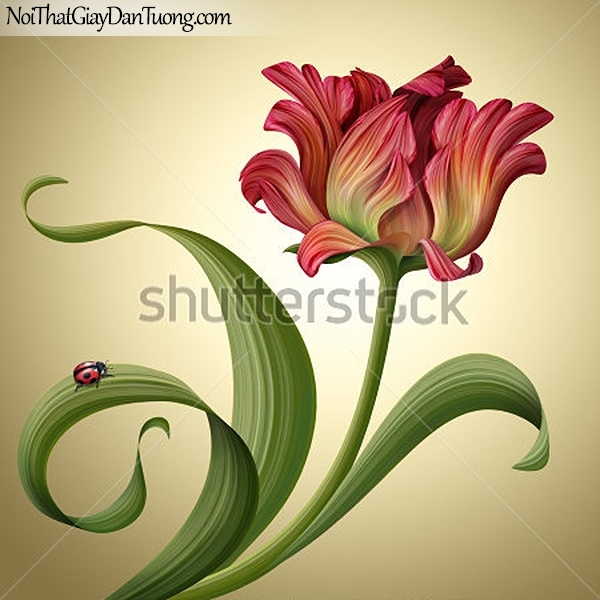 Tranh dán tường | Bức tranh vẻ dẹp độc đáo của bông hoa lan DA2315