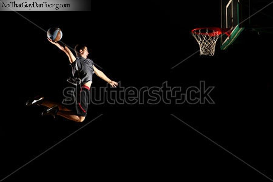 Tranh dán tường , nhìn câu thủ đang nhảy cao đưa bóng vào rổ DA283