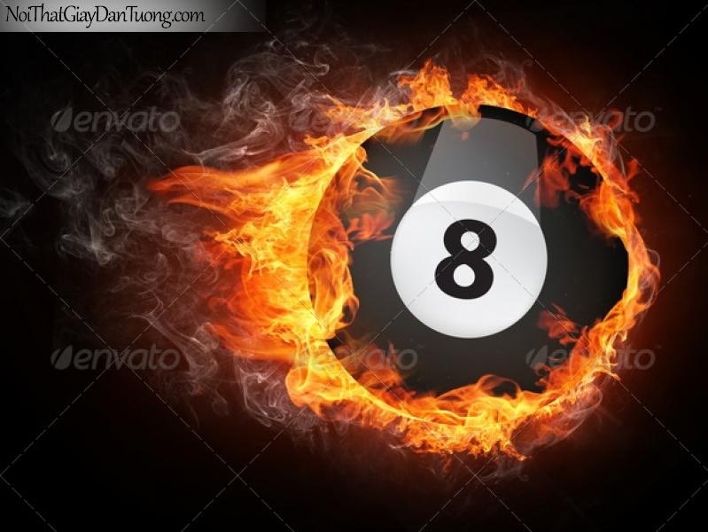 Tranh dán tường , nhìn con số 8 bên vòng lửa DA256