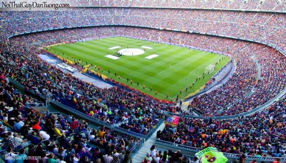 Tranh dán tường , sân vận động tuyệt đẹp có nhiều người xem DA274