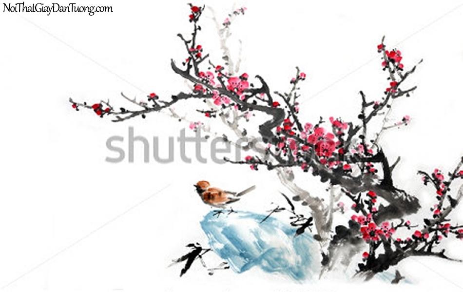 Tranh dán tường | Tranh vẽ | Tranh thủy mặc ( mạc ) DA401