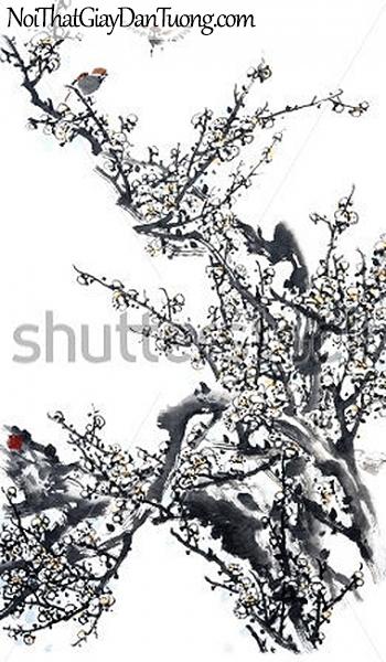 Tranh dán tường | Tranh vẽ | Tranh thủy mặc ( mạc ) DA436