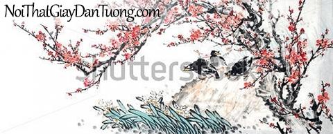 Tranh dán tường   Tranh vẽ   Tranh thủy mặc ( mạc ) DA437