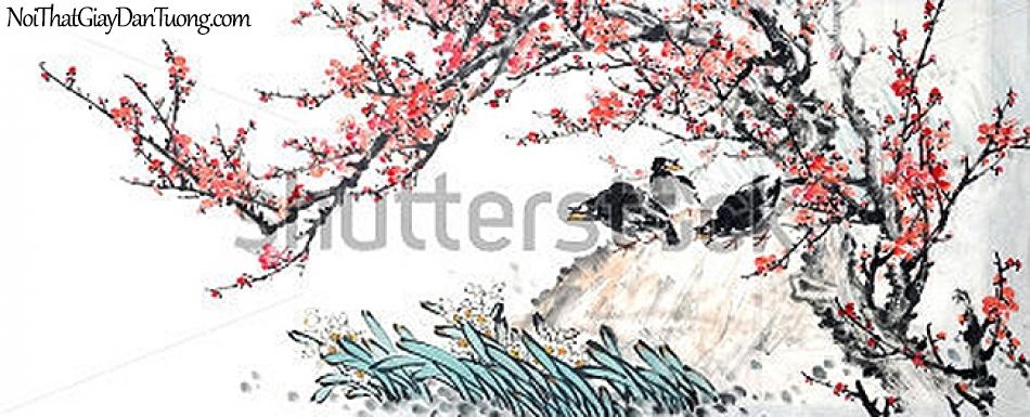 Tranh dán tường | Tranh vẽ | Tranh thủy mặc ( mạc ) DA437