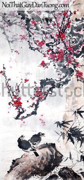 Tranh dán tường | Tranh vẽ | Tranh thủy mặc ( mạc ) DA438