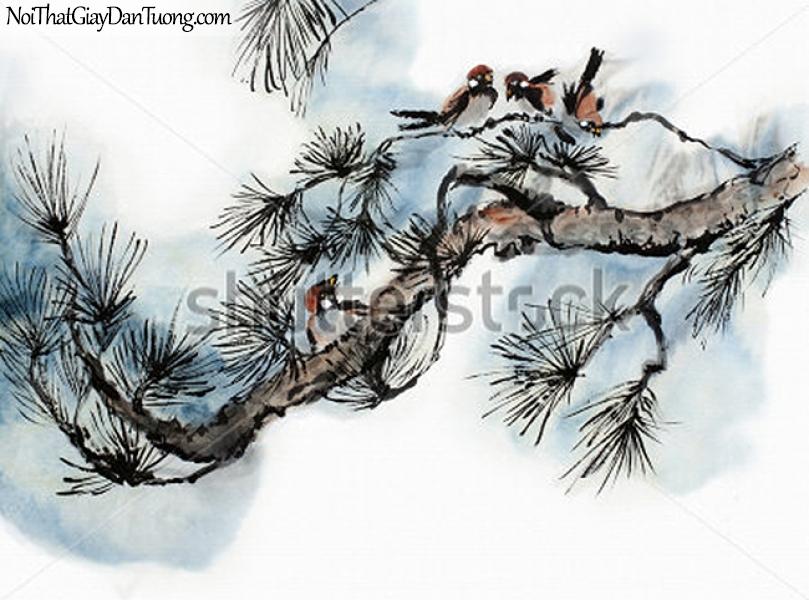 Tranh dán tường | Tranh vẽ | Tranh thủy mặc ( mạc ) DA441