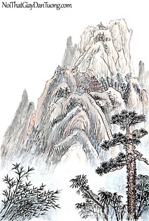 Tranh dán tường | Tranh vẽ | Tranh thủy mặc ( mạc ) DA446