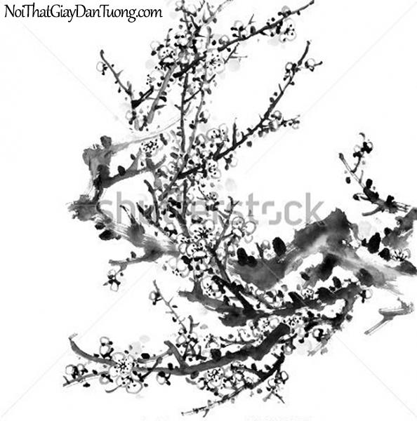 Tranh dán tường | Tranh vẽ | Tranh thủy mặc ( mạc ) DA449