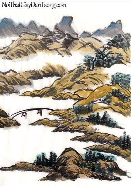Tranh dán tường | Tranh vẽ | Tranh thủy mặc ( mạc ) DA455