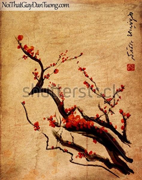 Tranh dán tường | Tranh vẽ | Tranh thủy mặc ( mạc ) DA457